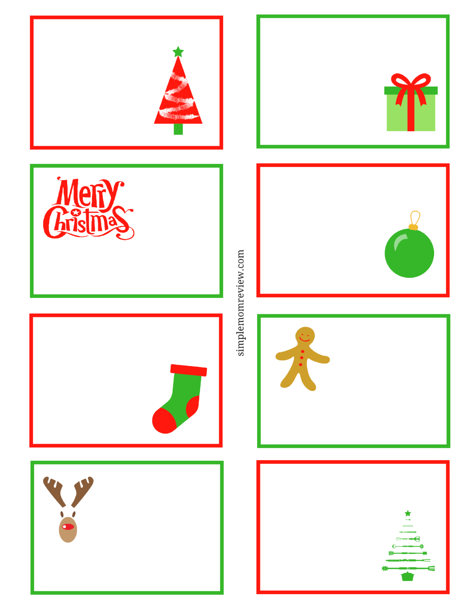 Christmas Note Cards Printable – Horizonconsulting.co With Regard To Printable Holiday Card Templates