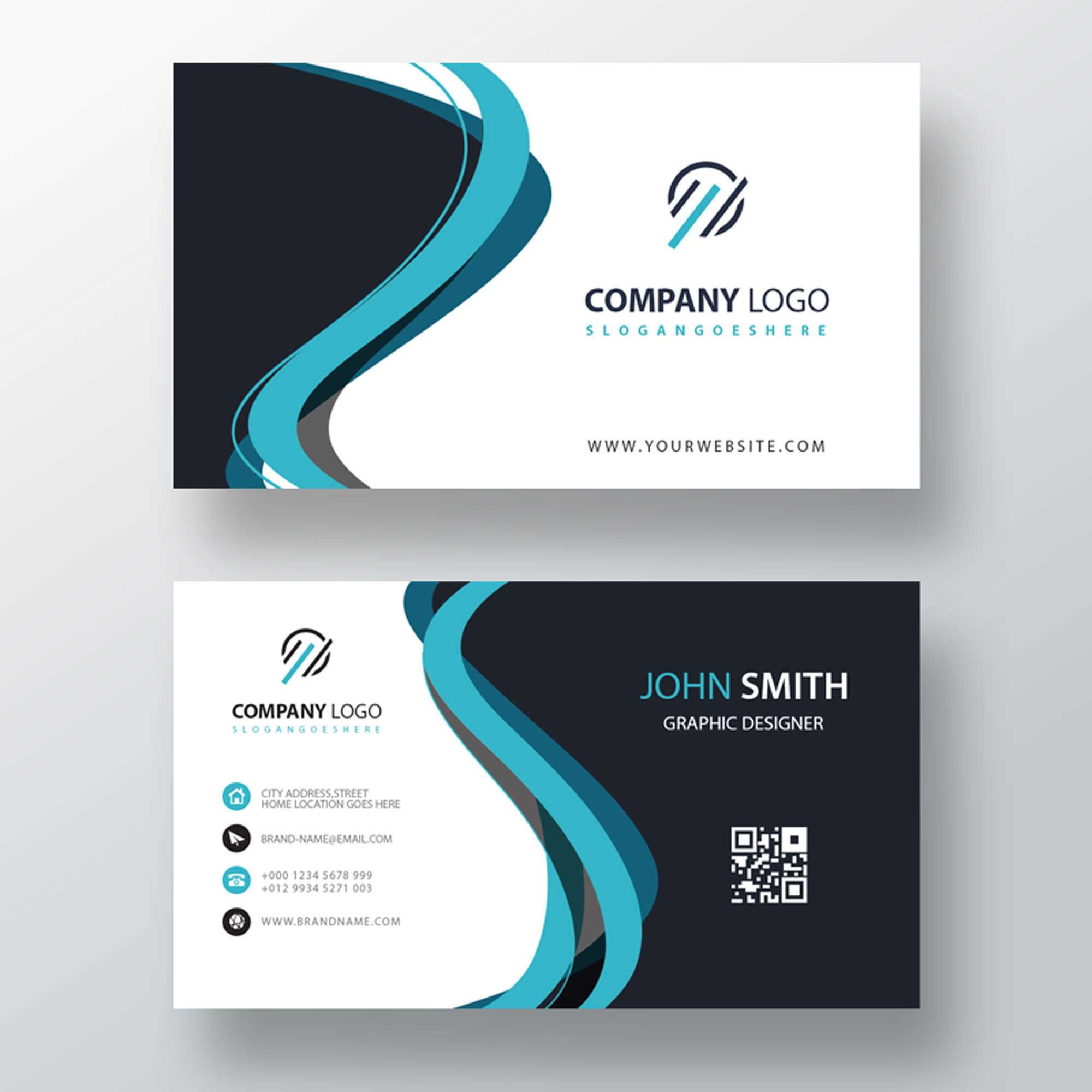 Classic Company Visiting Card Template | Free Customize Throughout Designer Visiting Cards Templates