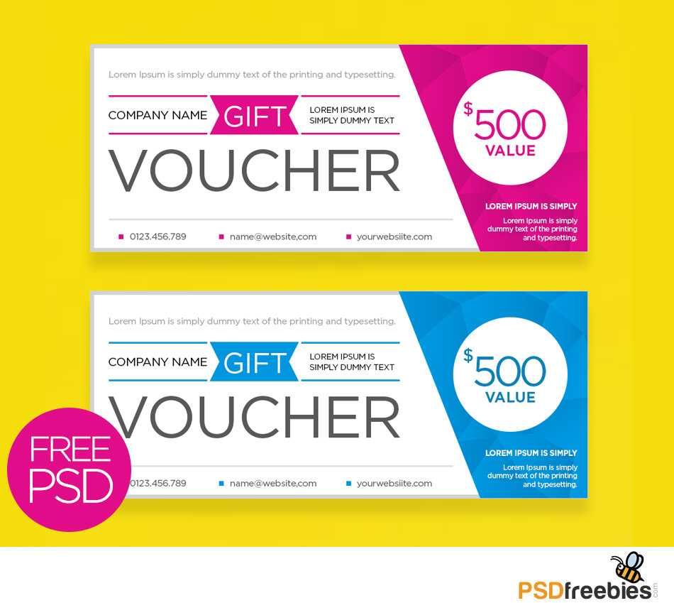 Clean And Modern Gift Voucher Template Psd | Psdfreebies Inside Gift Certificate Template Photoshop