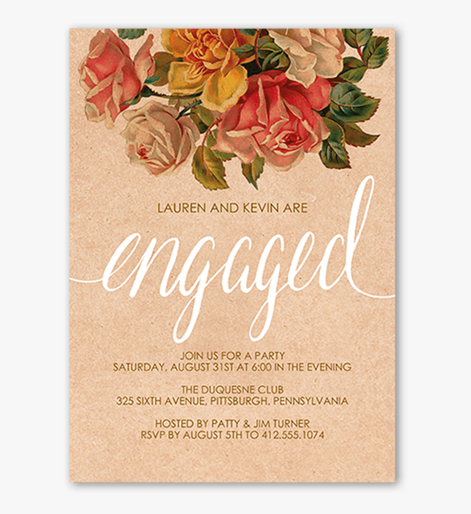 Clip Art Engagement Party Invitations Templates – Engagement Throughout Engagement Invitation Card Template