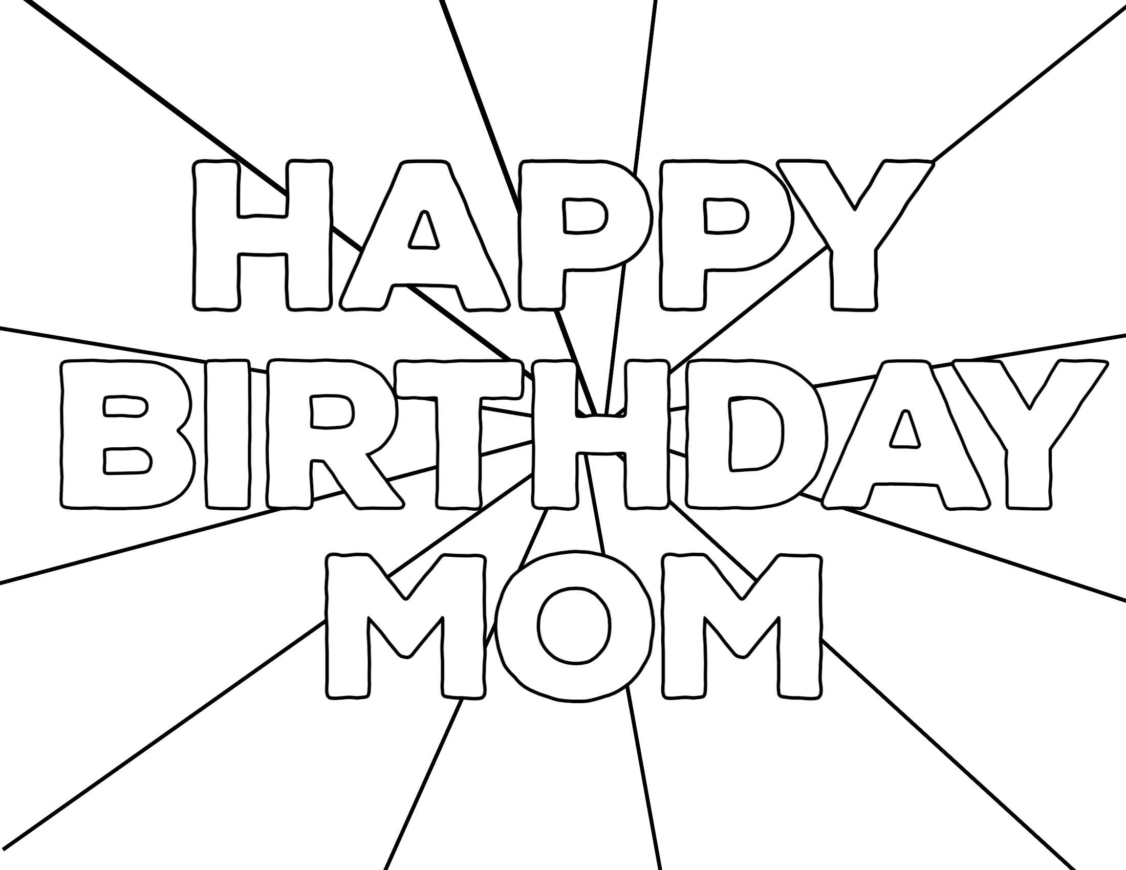 Coloring : Coloring Bookle Birthday Cards Free Happy Card Pertaining To Mom Birthday Card Template