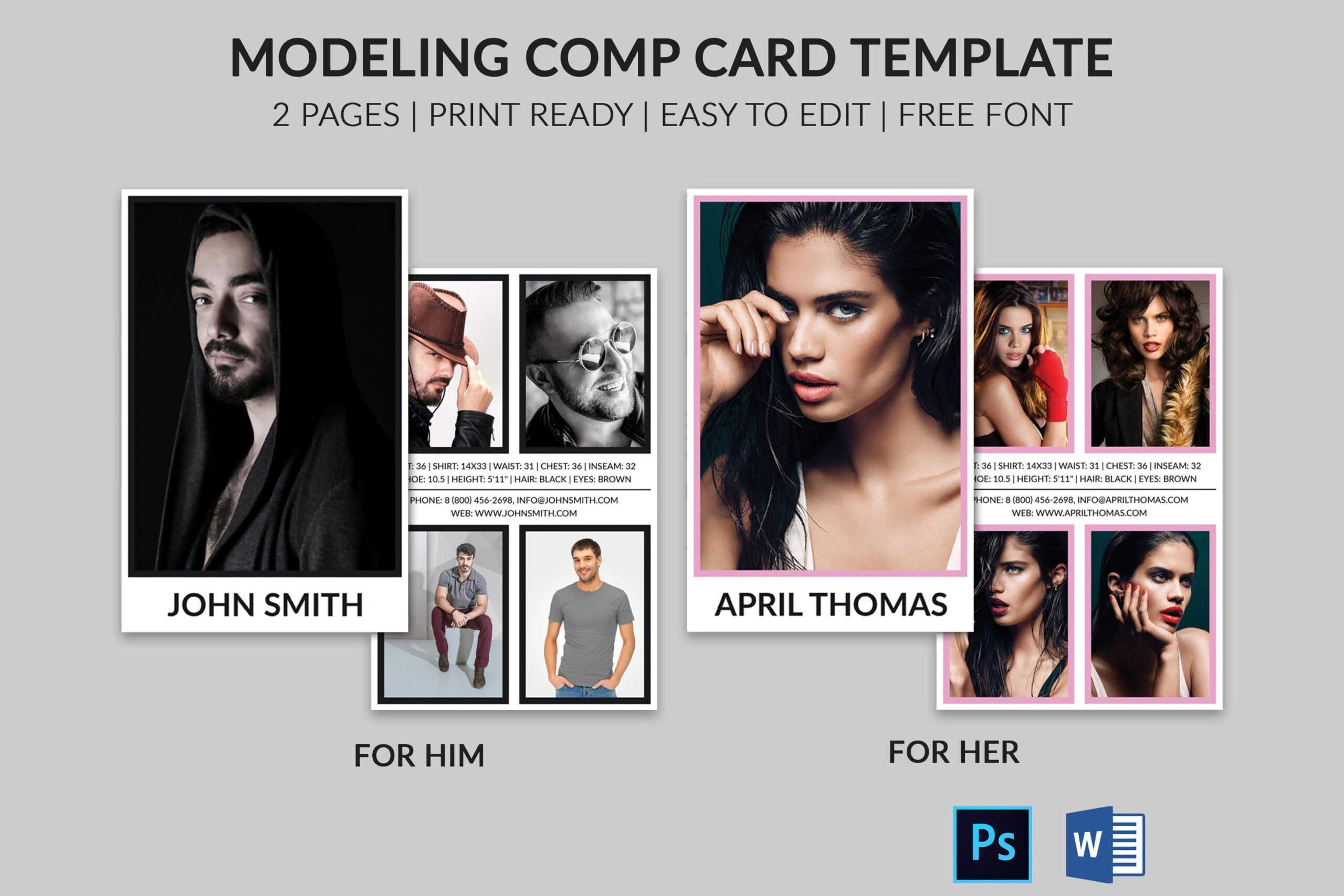 Comp Card Template – Colona.rsd7 With Free Model Comp Card Template