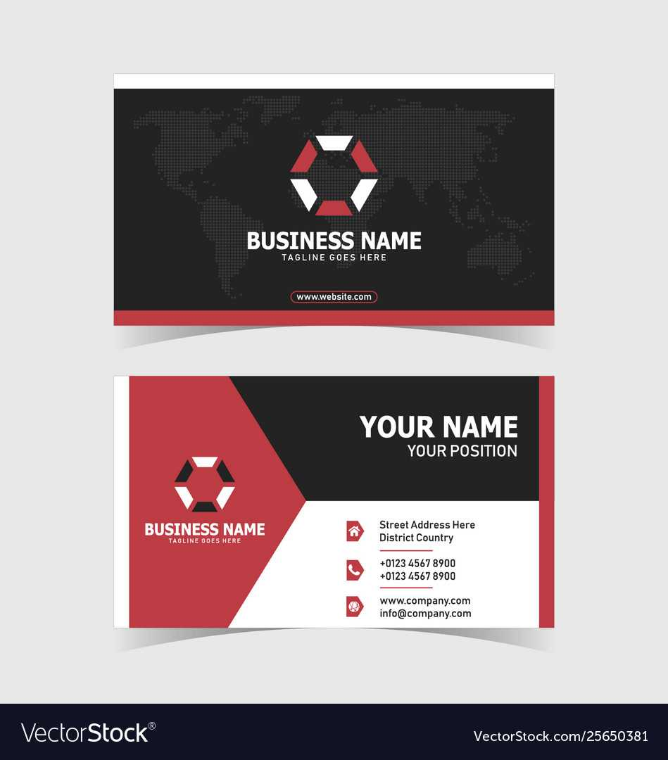 Corporate Double Sided Business Card Template With Regard To Double Sided Business Card Template Illustrator