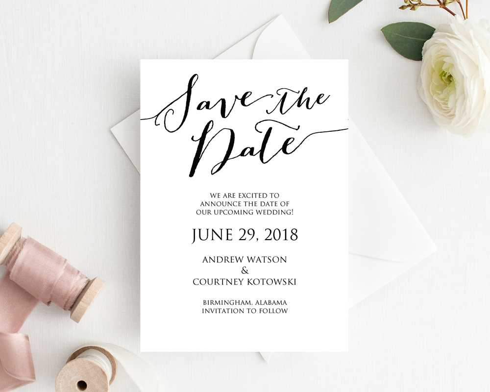 Create Your Own Save The Date Cards - Colona.rsd7 Inside Save The Date Cards Templates