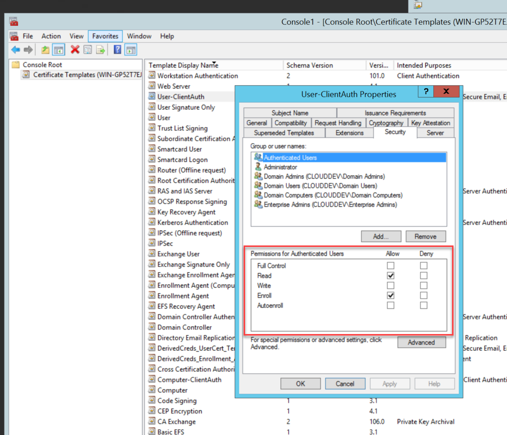 Creating The Certificate Templates Throughout Active Directory Certificate Templates
