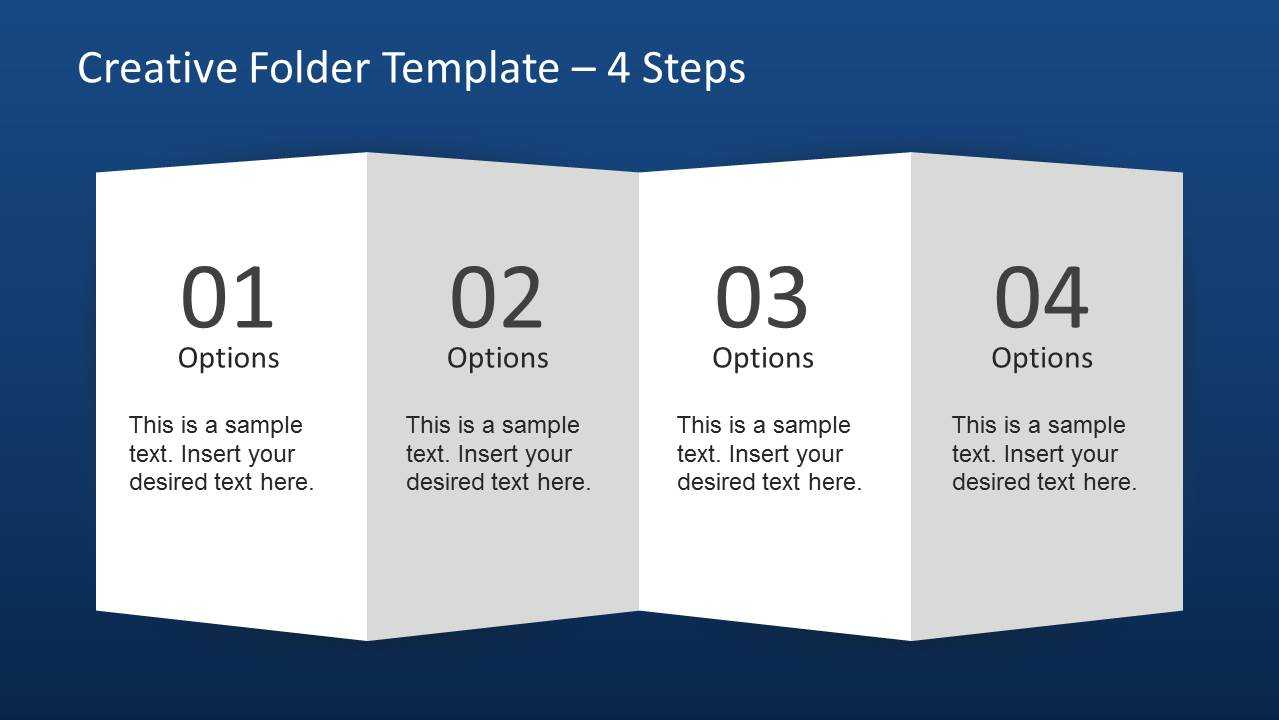 Creative Folder Paper With 4 Fold Brochure - Slidemodel Pertaining To 4 Fold Brochure Template