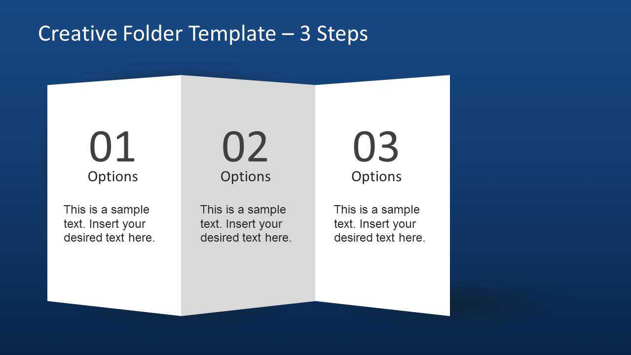 Creative Folder Template Layout For Powerpoint With Brochure Folding Templates