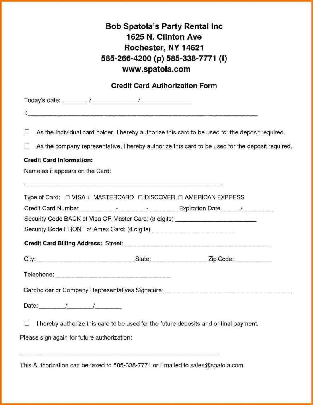 Credit Card Authorization Form Template Holiday Inn Payment With Regard To Credit Card Billing Authorization Form Template