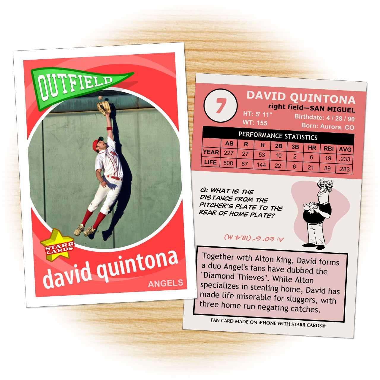 Custom Baseball Cards - Retro 60™ Series Starr Cards For Custom Baseball Cards Template
