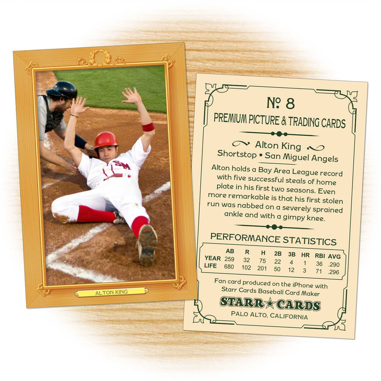Custom Baseball Cards - Vintage 11™ Series Starr Cards Within Custom Baseball Cards Template