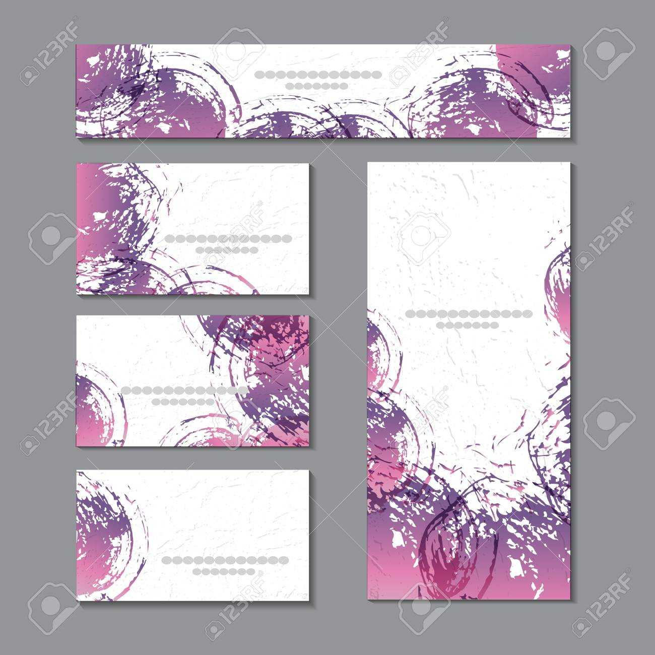 Cute Templates With Abstract Graphics.for Romance And Design,.. For Advertising Cards Templates
