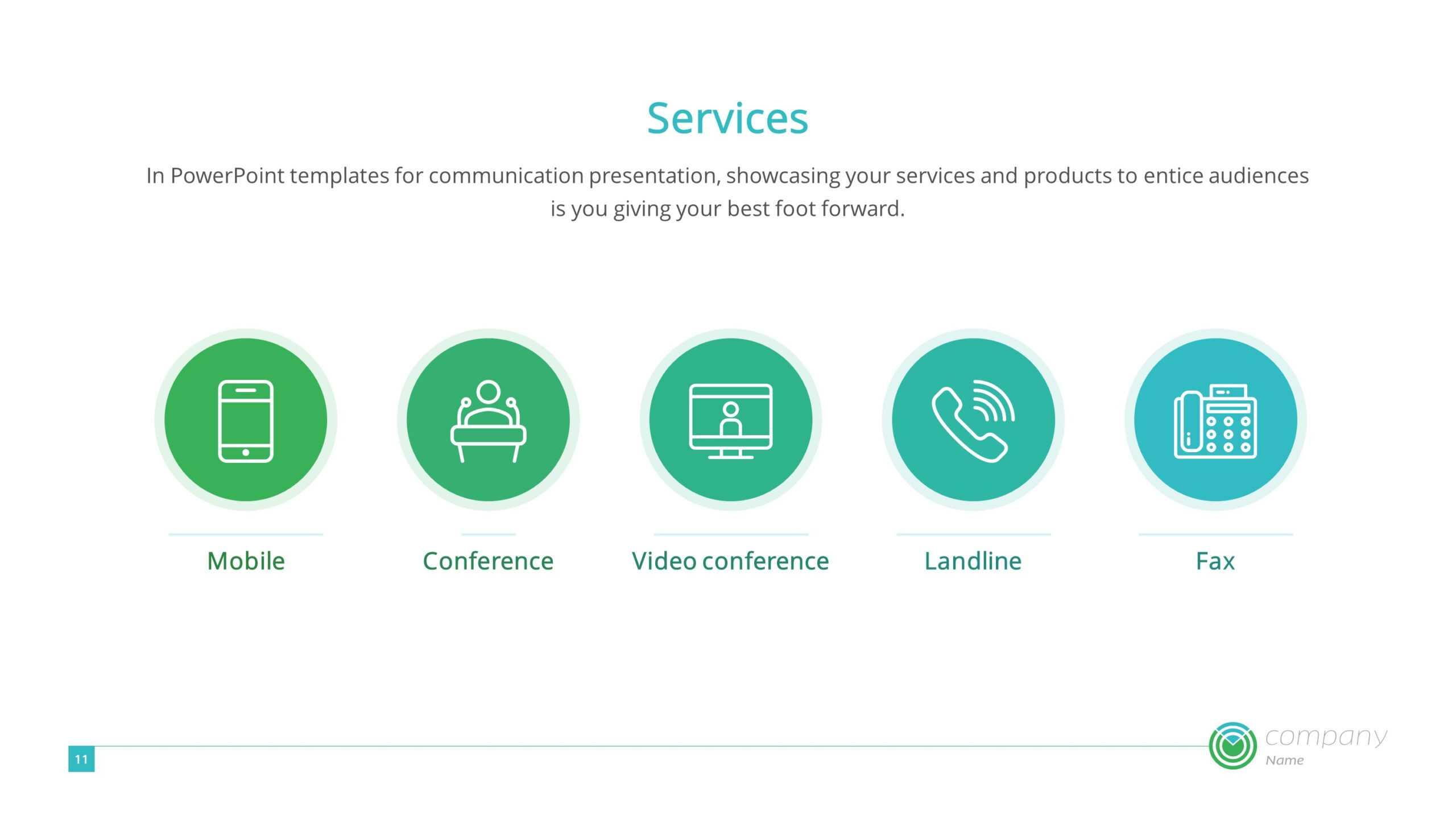 Digital Communication Premium Powerpoint Template - Slidestore For Powerpoint Templates For Communication Presentation