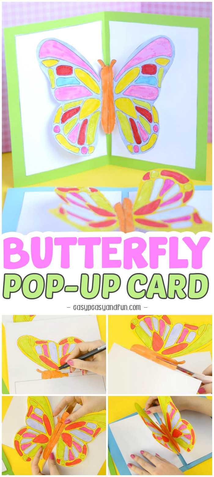Diy Butterfly Pop Up Card With A Template - Easy Peasy And Fun With Regard To Diy Pop Up Cards Templates