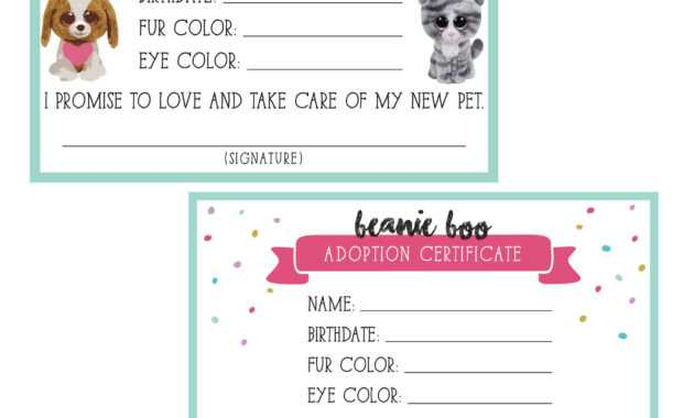 Dog Birth Certificate Template ] - Birth Certificate Sample intended for Pet Adoption Certificate Template