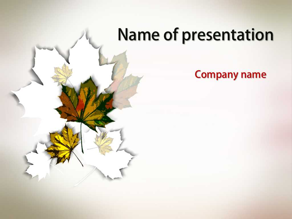 Download Free Autumn Maple Powerpoint Template For Presentation With Free Fall Powerpoint Templates