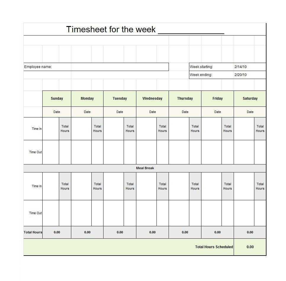 Download Timesheet Templates – Colona.rsd7 Inside Usmc Meal Card Template