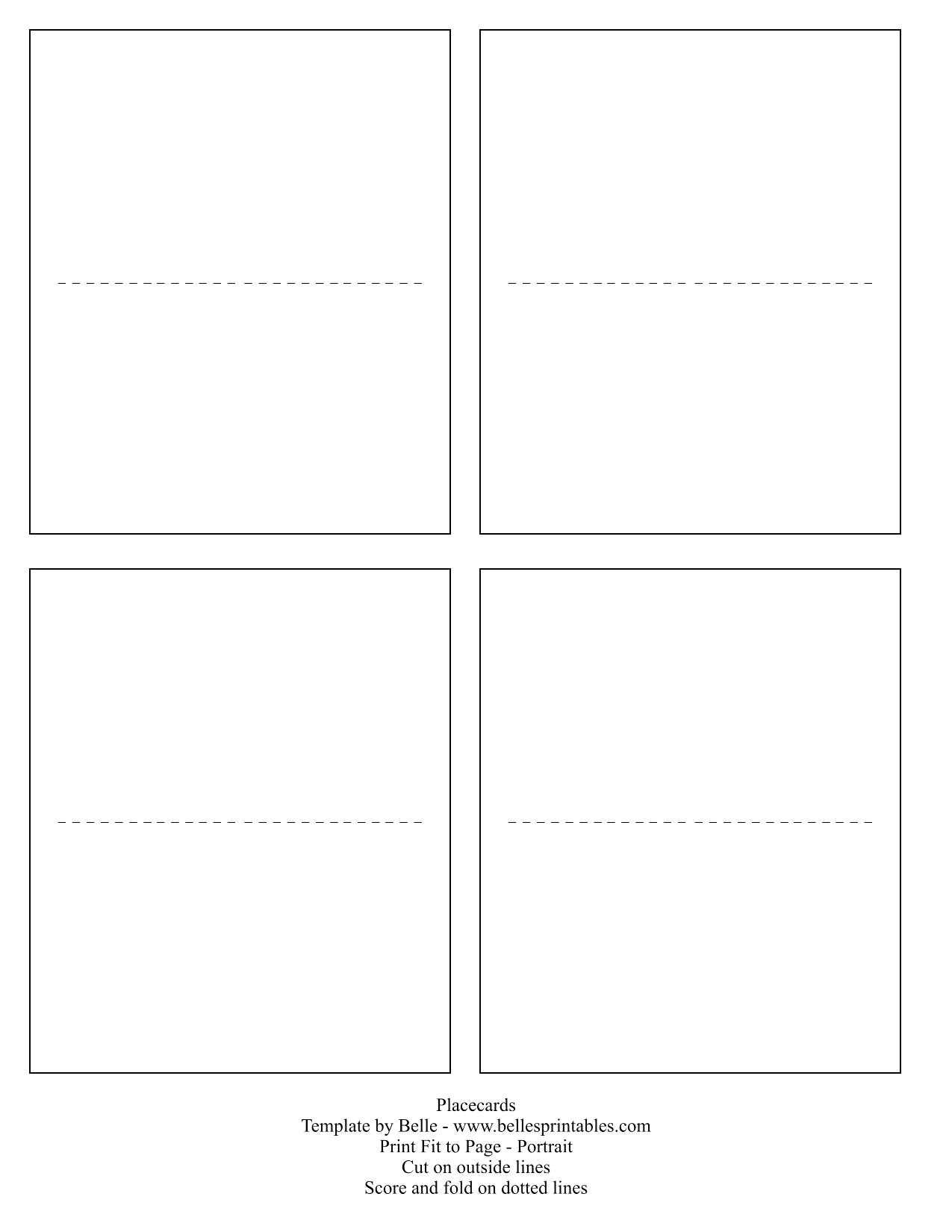 Dreaded Place Card Template Word Ideas 4 Per Sheet Name Free Pertaining To Amscan Imprintable Place Card Template