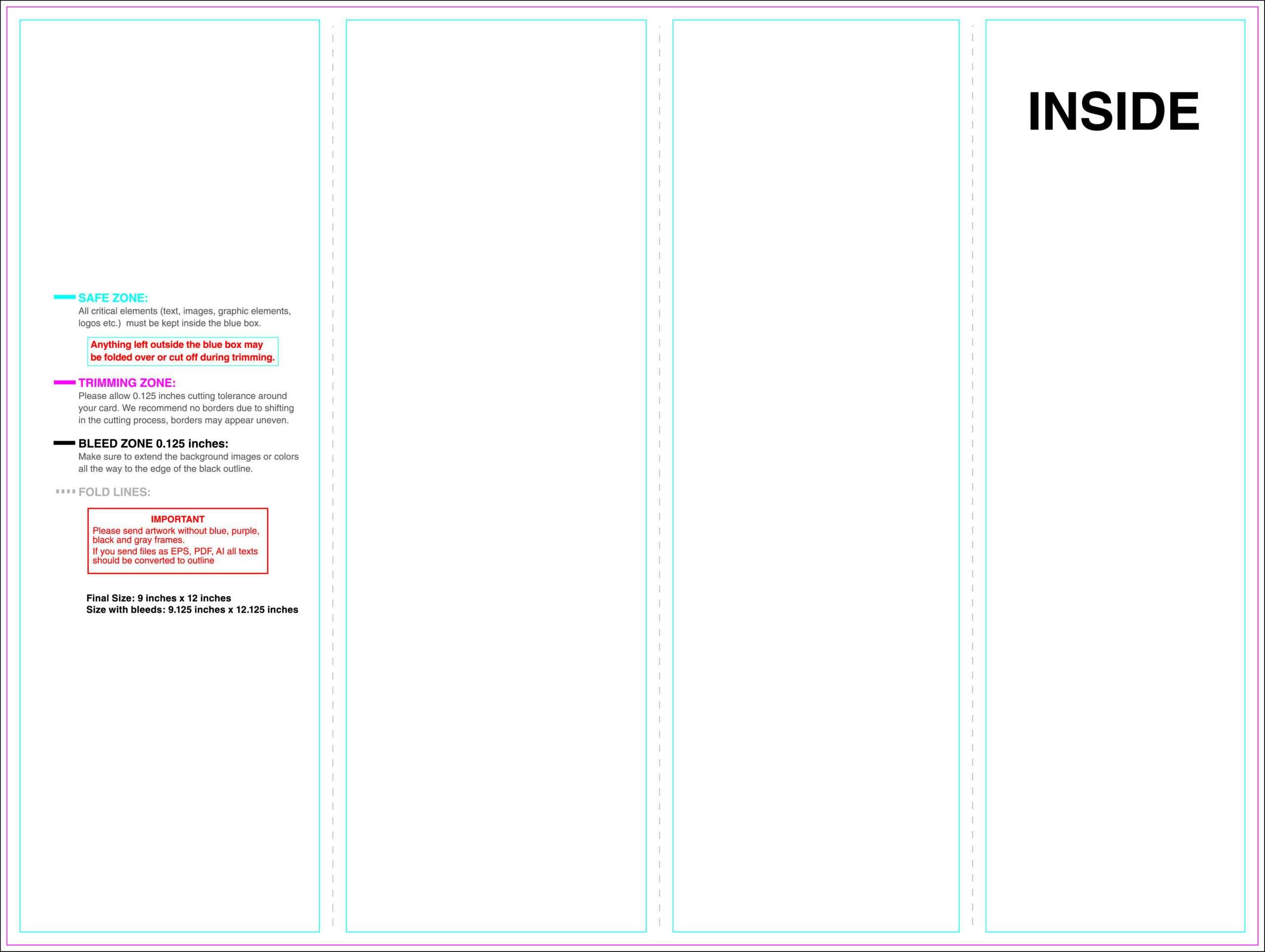 Dreaded Quad Fold Brochure Template Ideas 4 Panel Indesign With 4 Panel Brochure Template