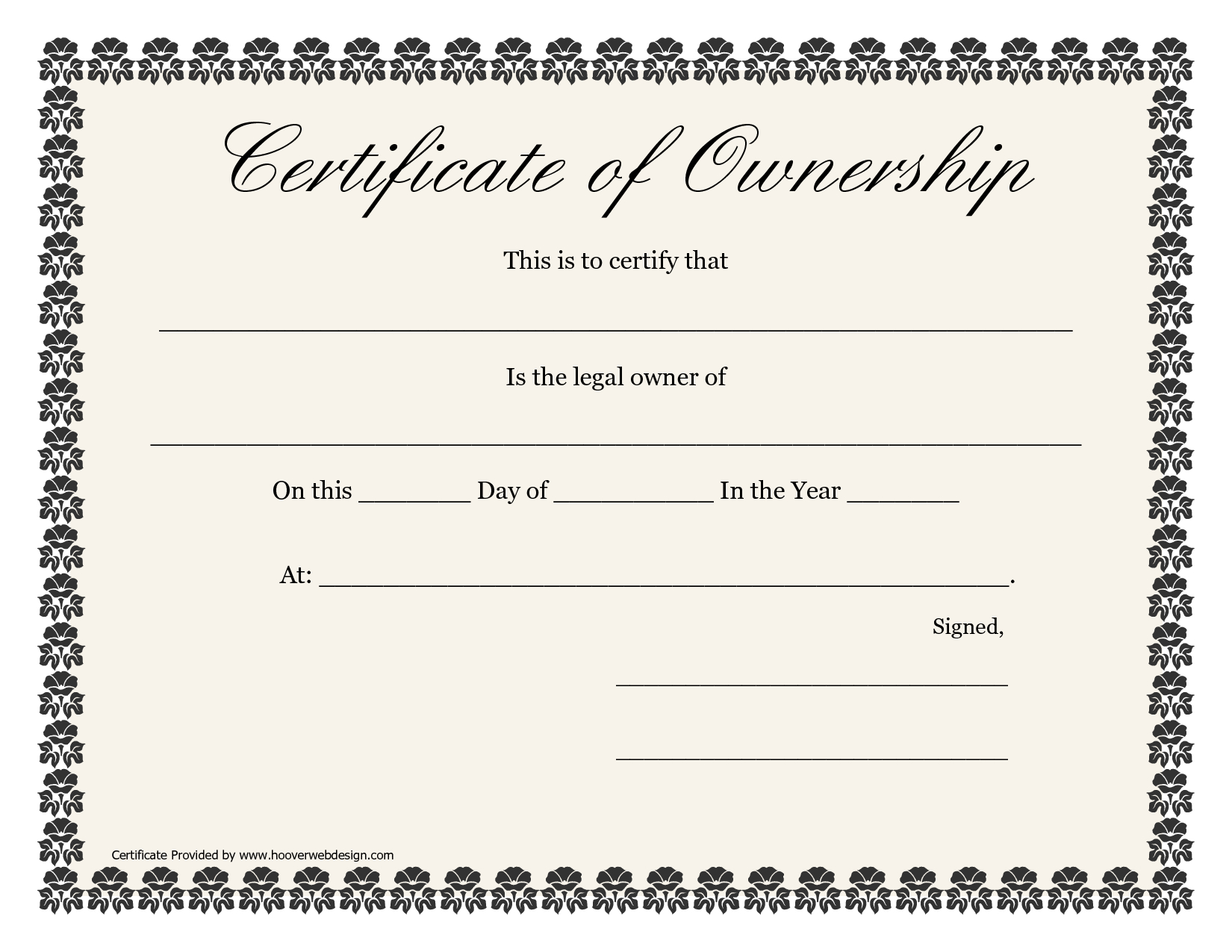 ❤️5+ Free Sample Of Certificate Of Ownership Form Template❤️ Inside Certificate Of Ownership Template