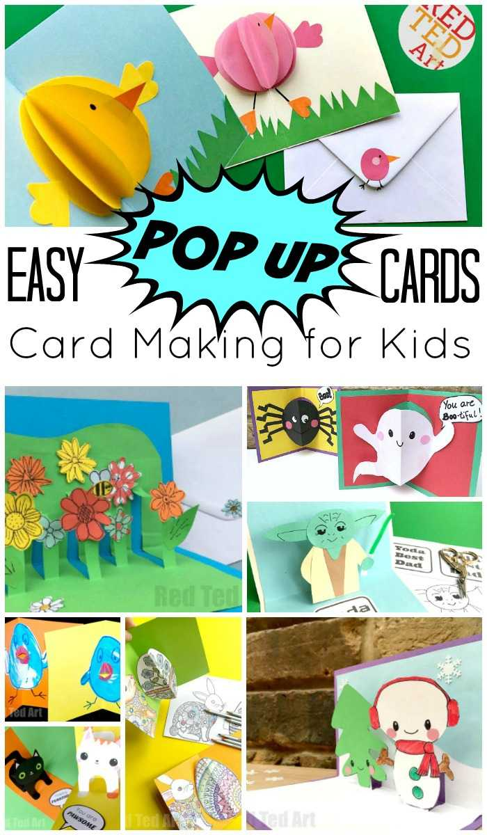 Easy Pop Up Card How To Projects – Red Ted Art With Regard To Diy Pop Up Cards Templates
