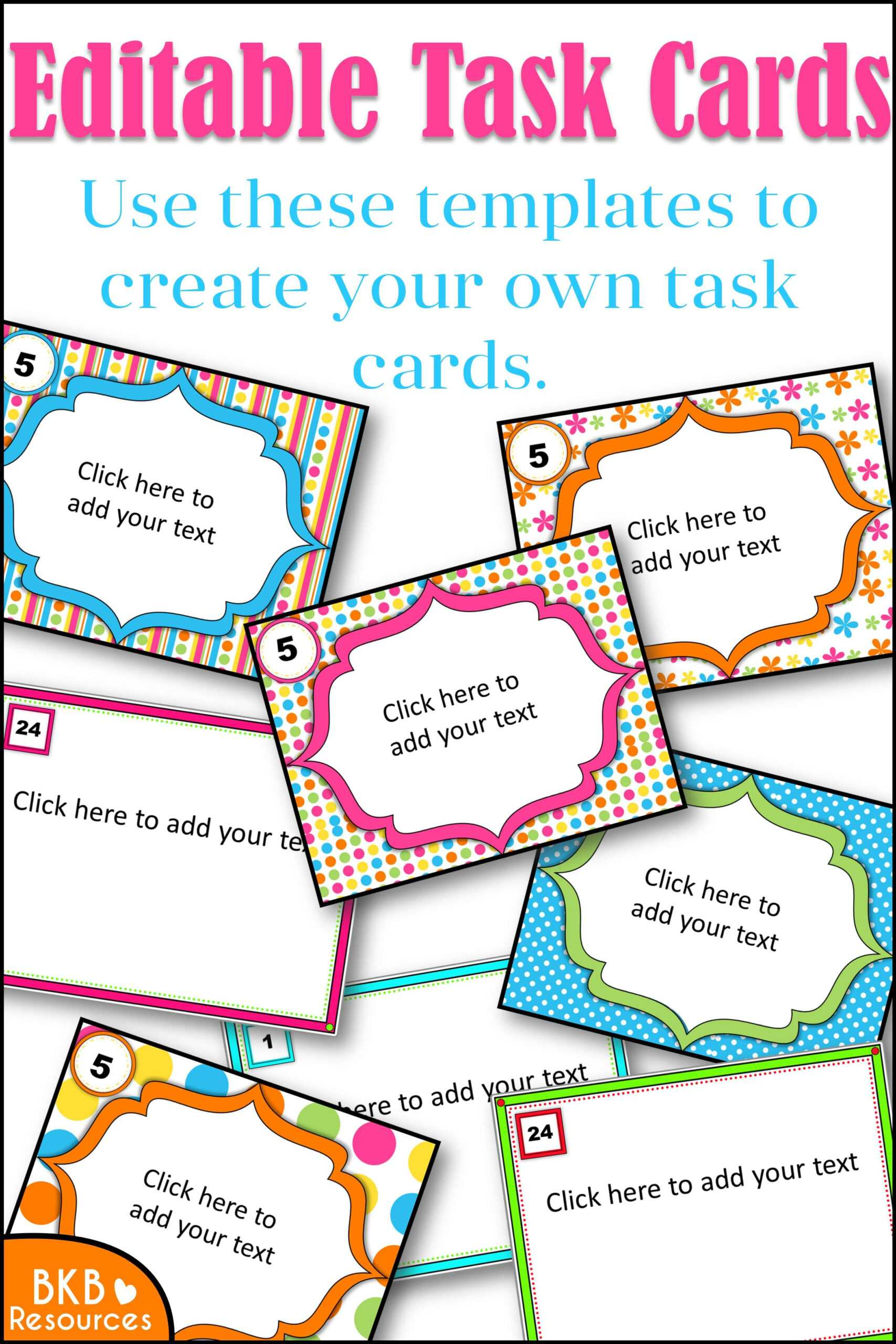 Editable Task Card Templates - Bkb Resources In Task Card Template