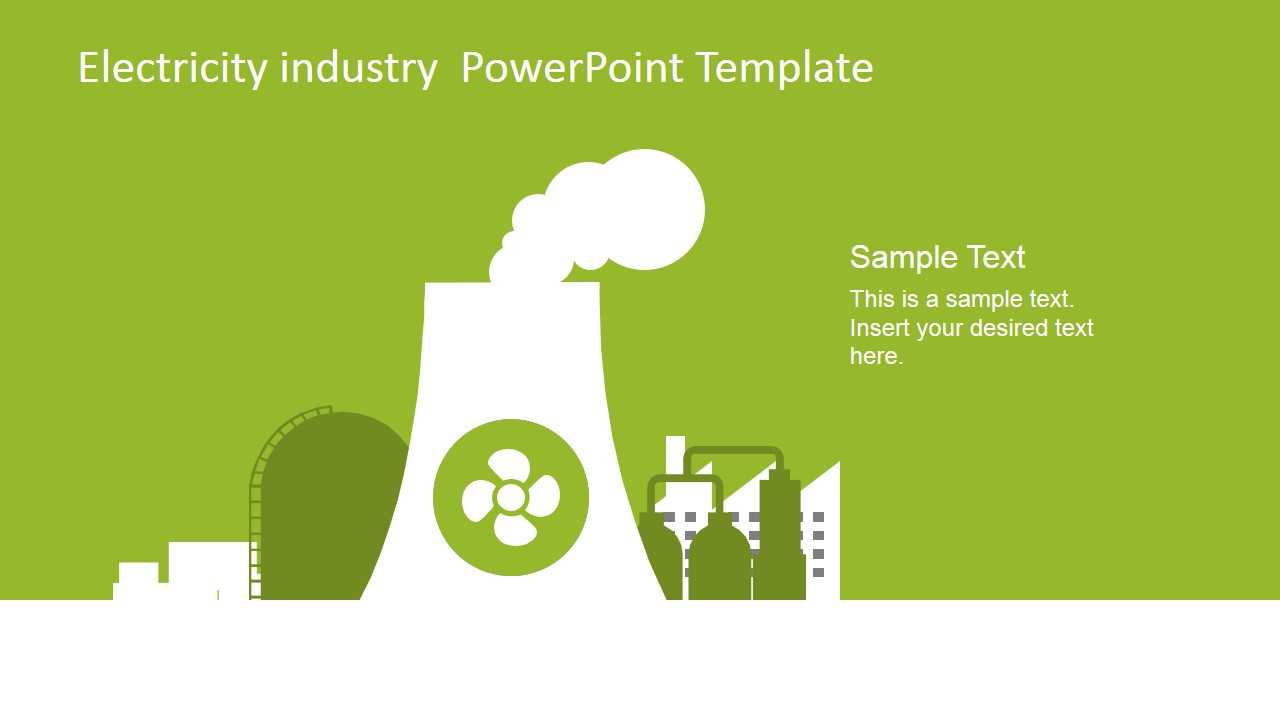 Electricity Industry Powerpoint Template - Slidemodel Within Nuclear Powerpoint Template