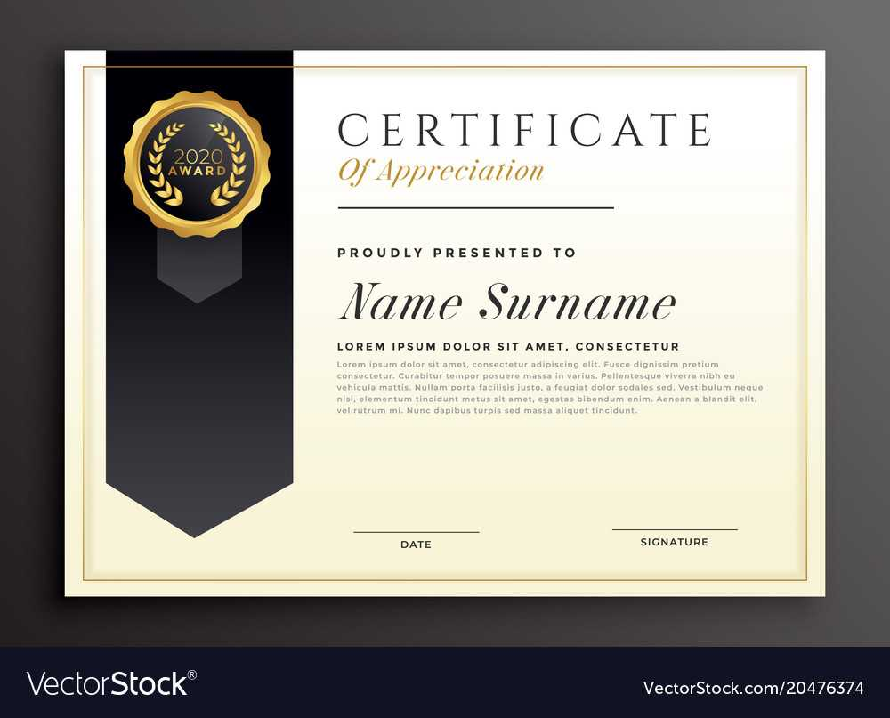 Elegant Diploma Award Certificate Template Design With Award Certificate Design Template