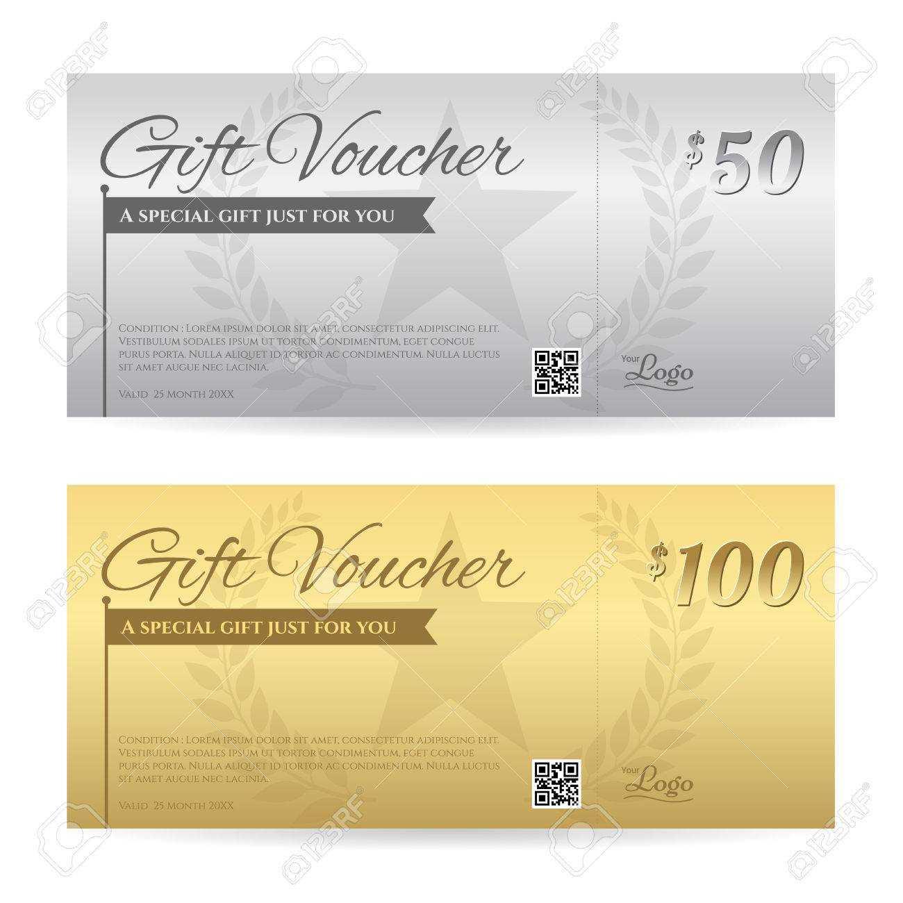 Elegant Gift Voucher Or Gift Card Certificate Template In Gold.. In Elegant Gift Certificate Template