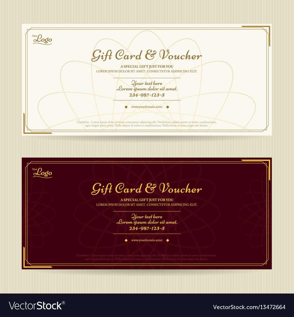 Elegant Gift Voucher Or Gift Card Template With Elegant Gift Certificate Template