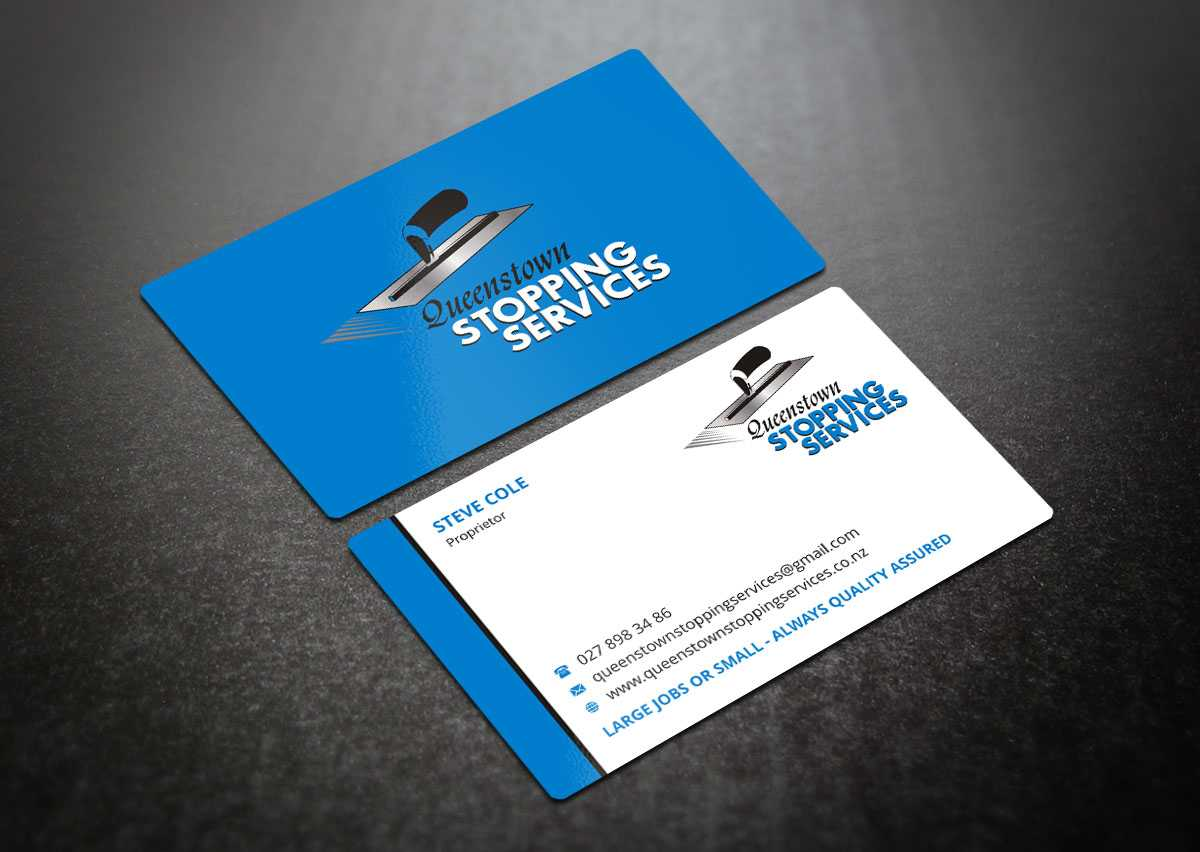 Elegant, Playful, Business Business Card Design For A With Regard To Plastering Business Cards Templates