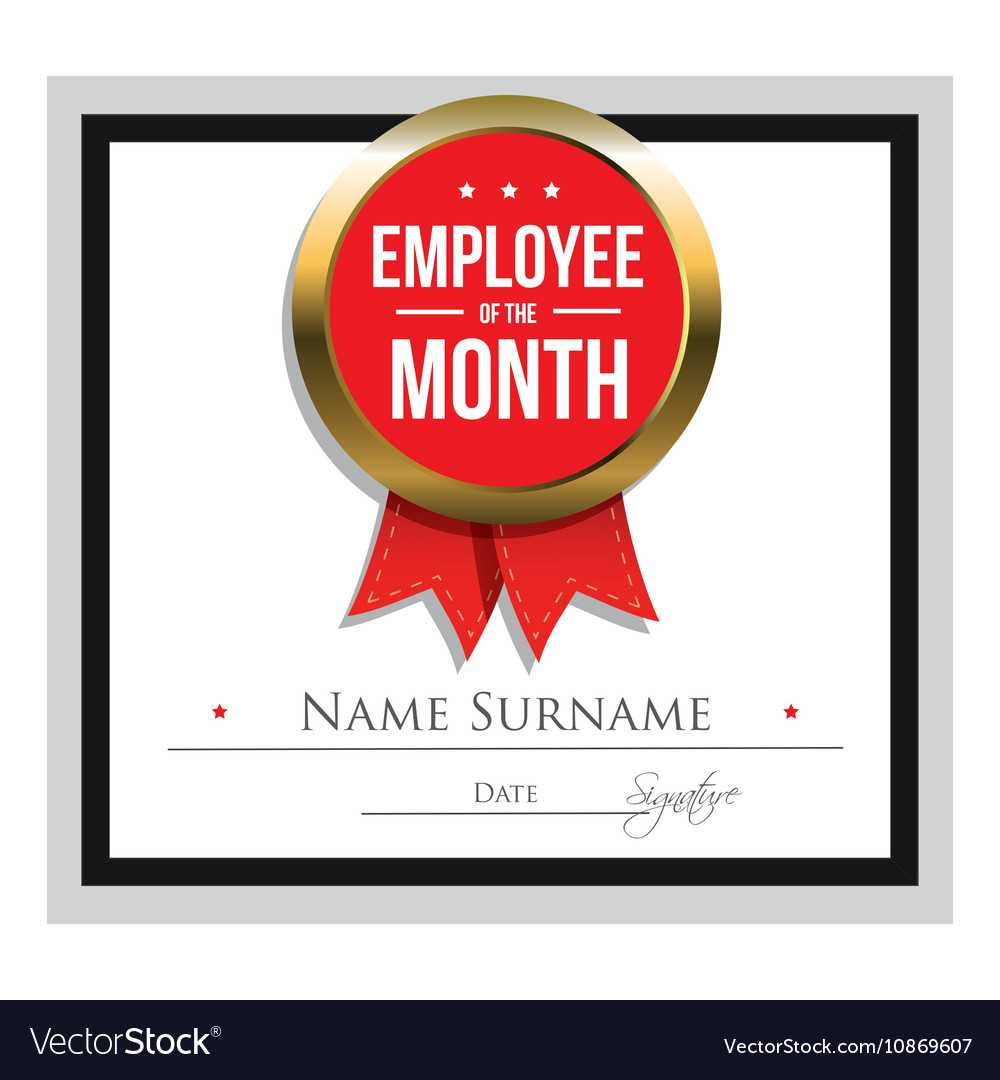 Employee Of The Month Certificate Template Regarding Employee Of The Month Certificate Template