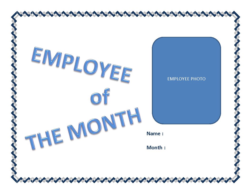 Employee Of The Month Certificate Template | Templates At Intended For Employee Of The Month Certificate Templates