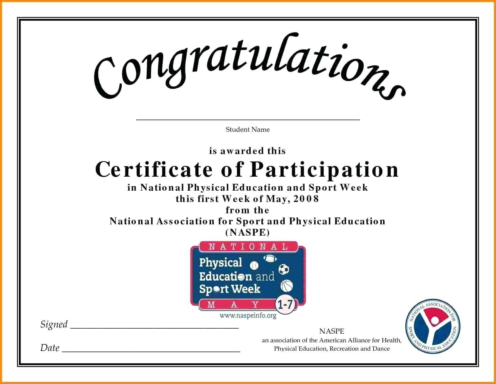 🥰free Printable Certificate Of Participation Templates (Cop)🥰 In Sample Certificate Of Participation Template