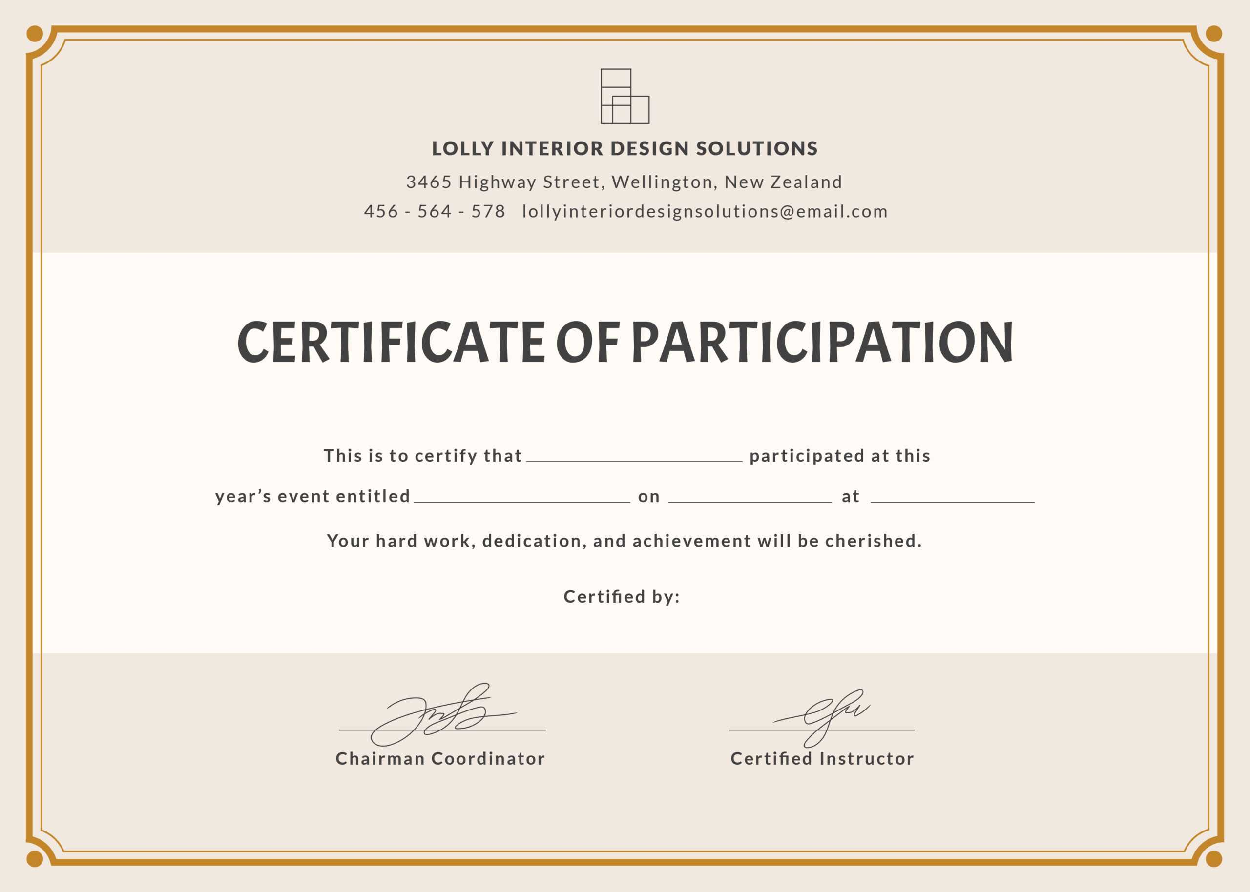 🥰free Printable Certificate Of Participation Templates (Cop)🥰 Throughout Templates For Certificates Of Participation