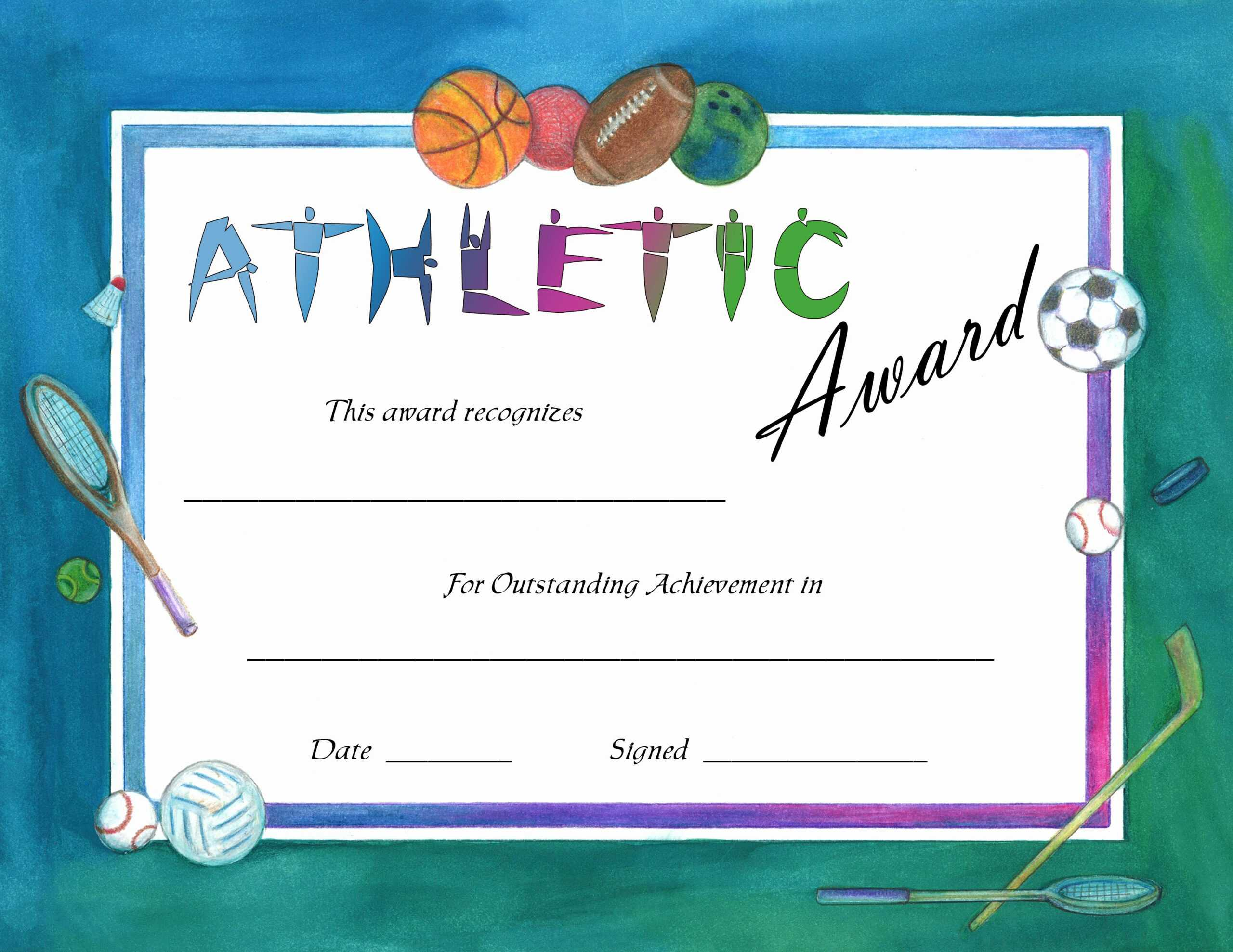 F264F Certificates Templates For Word And Sports Day Pertaining To Sports Award Certificate Template Word