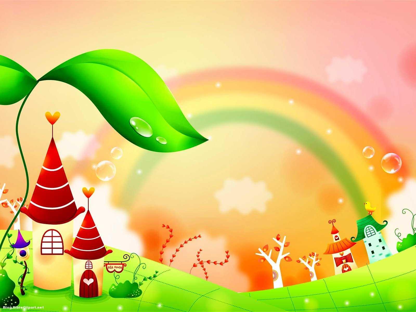 Fairy Tale Rainbow Children Background – Blog Bibleclipart Throughout Fairy Tale Powerpoint Template