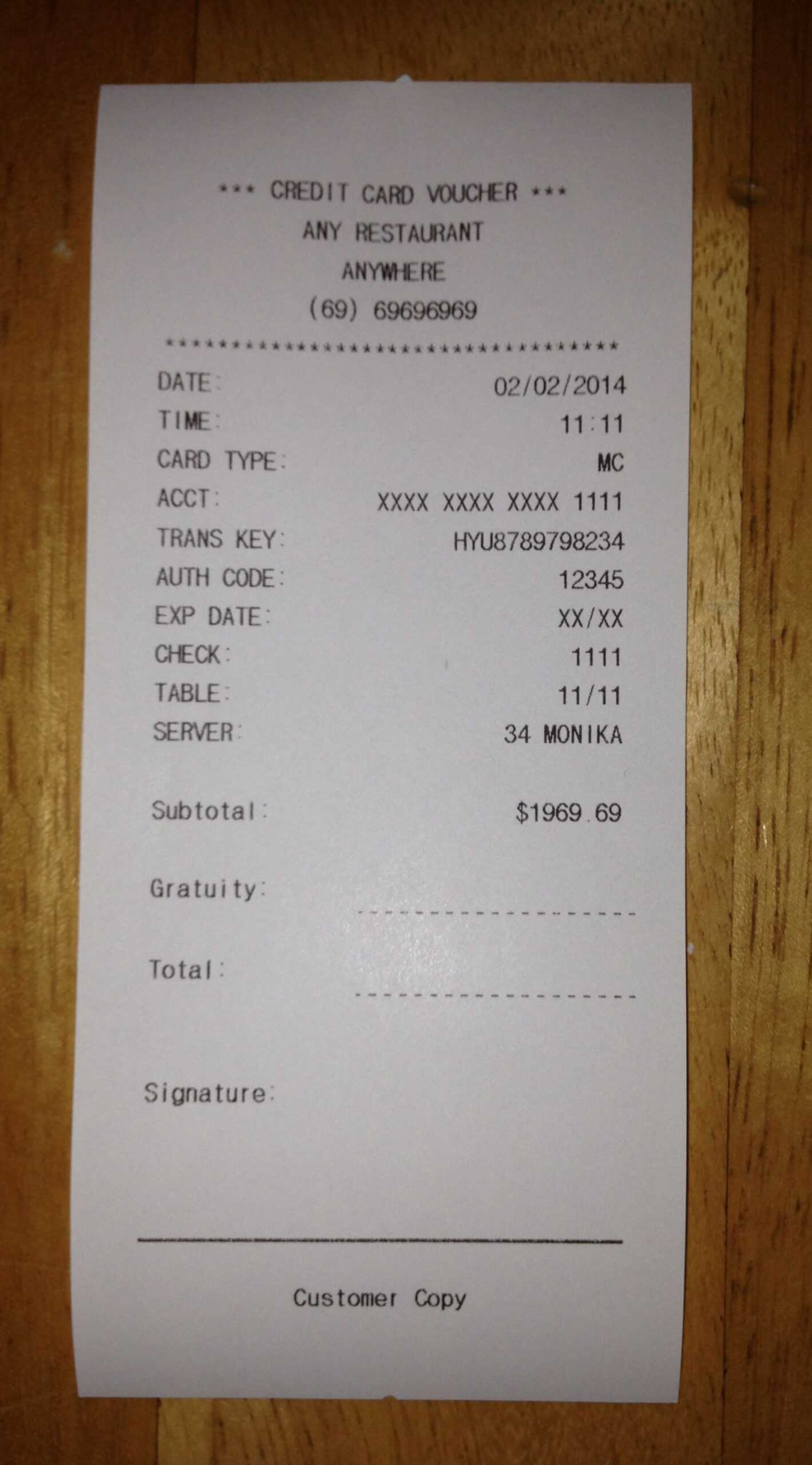 Fake Receipt Template ] – Plumbing Plumbing Receipt Invoice Intended For Fake Credit Card Receipt Template
