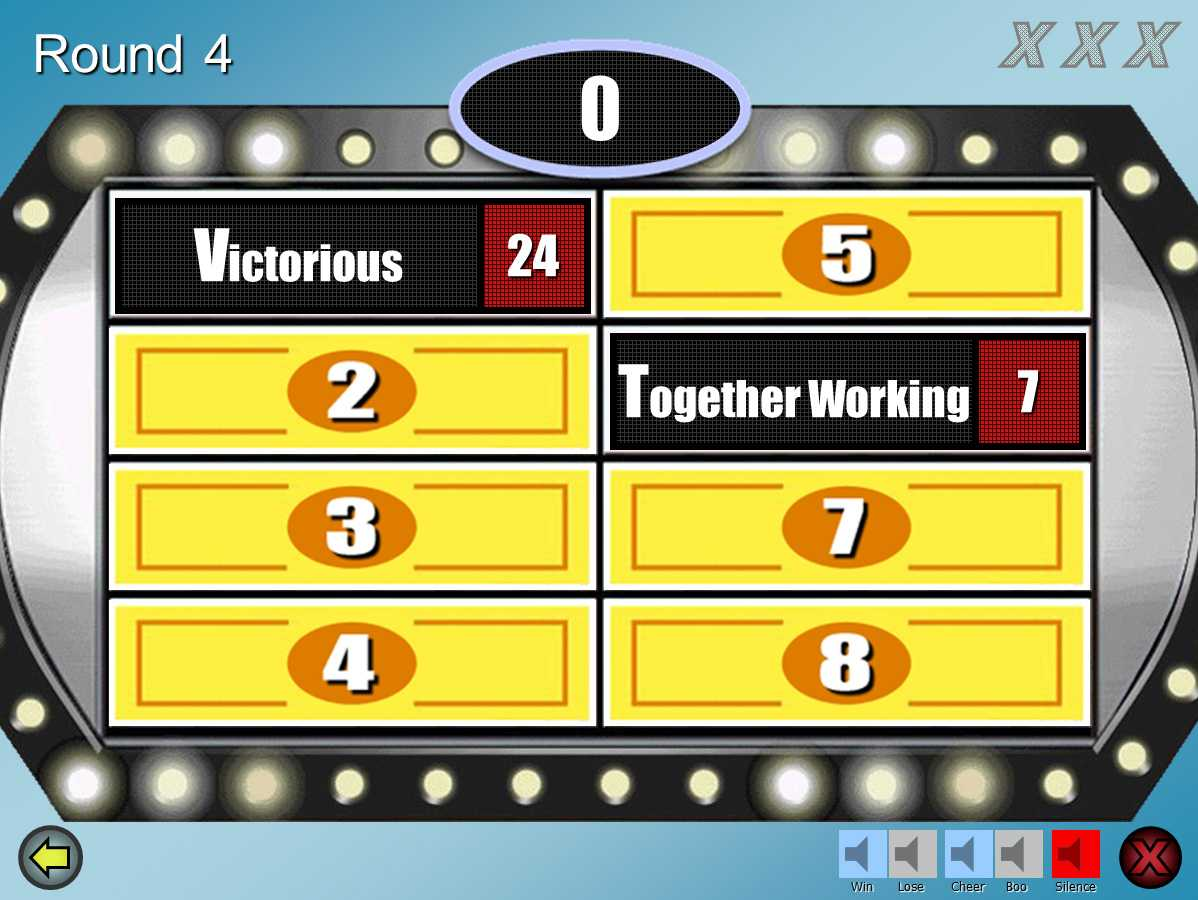 Family Feud Customizable Powerpoint Template - Youth Inside Family Feud Powerpoint Template Free Download