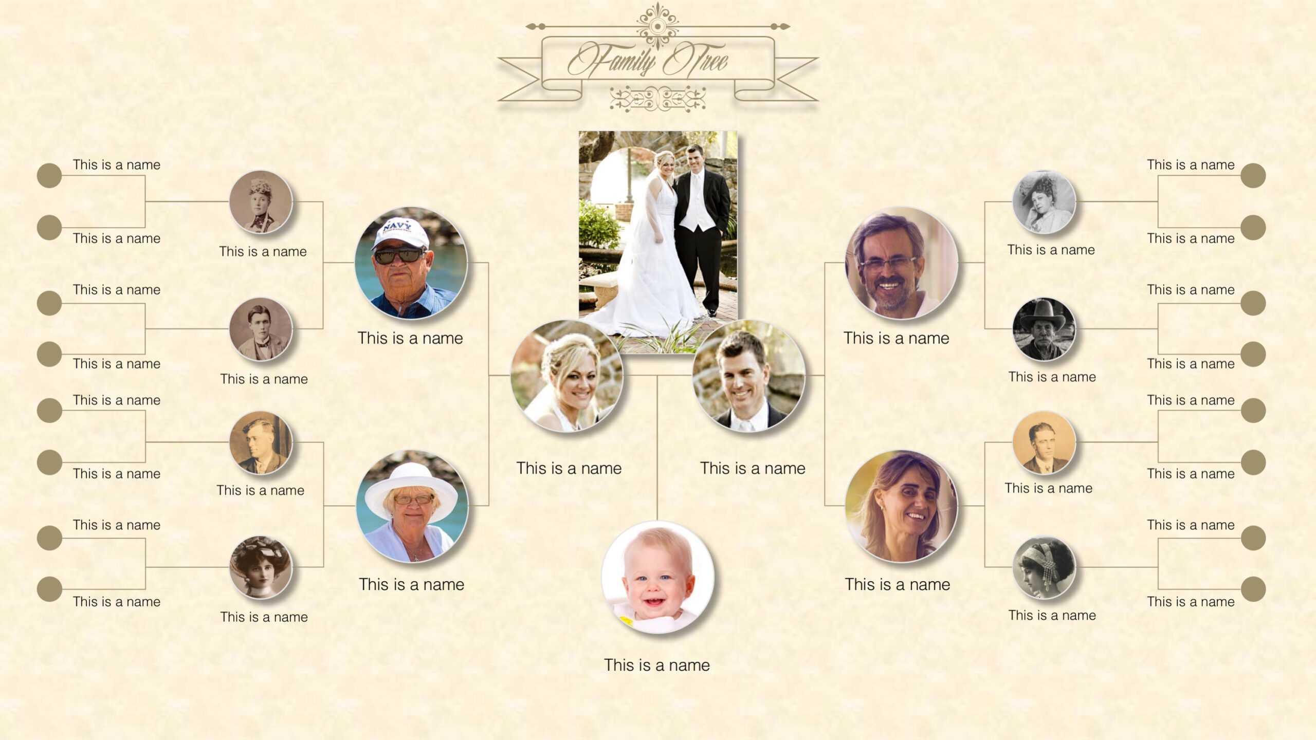 Family Tree Powerpoint Templates Regarding Powerpoint Genealogy Template