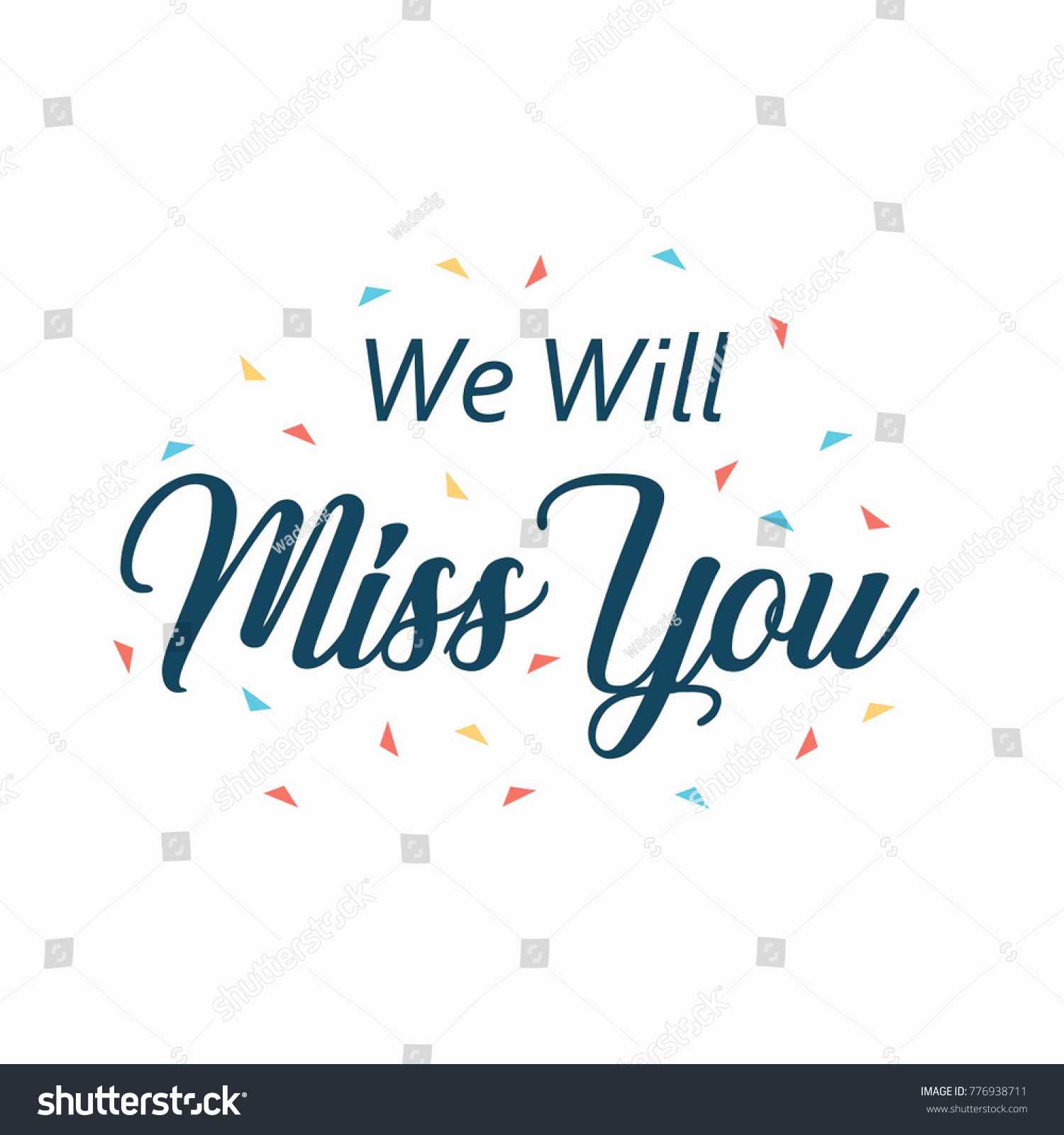 Farewell Card We Will Miss You Stock Vector (Royalty Free Intended For Goodbye Card Template