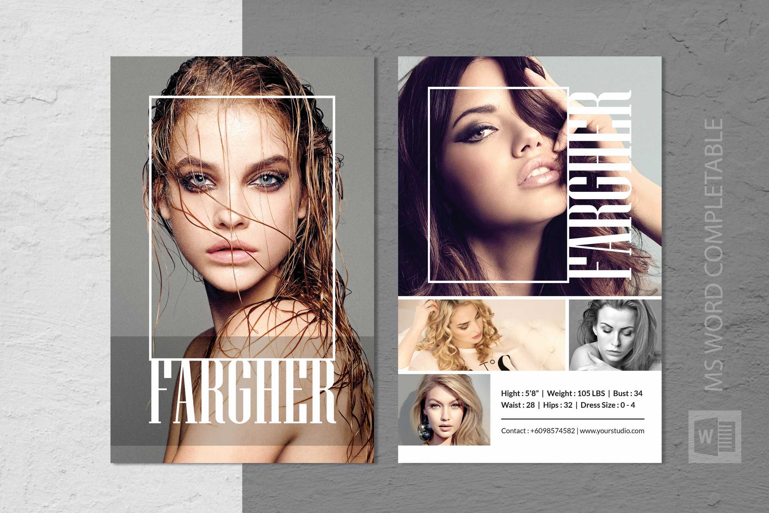 Fashion Modeling Comp Card Template Regarding Free Comp Card Template