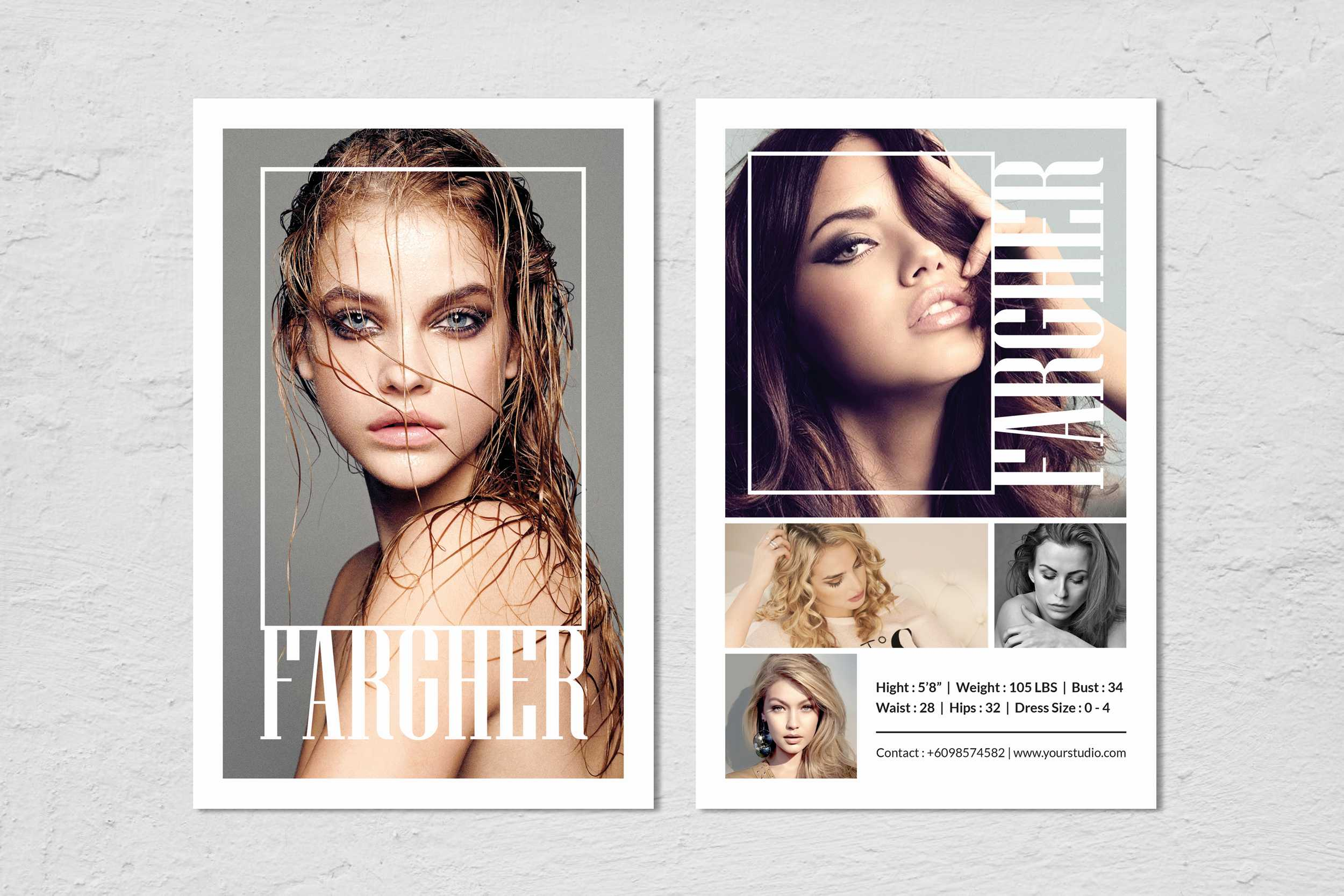 Fashion Modeling Comp Card Template Within Free Comp Card Template