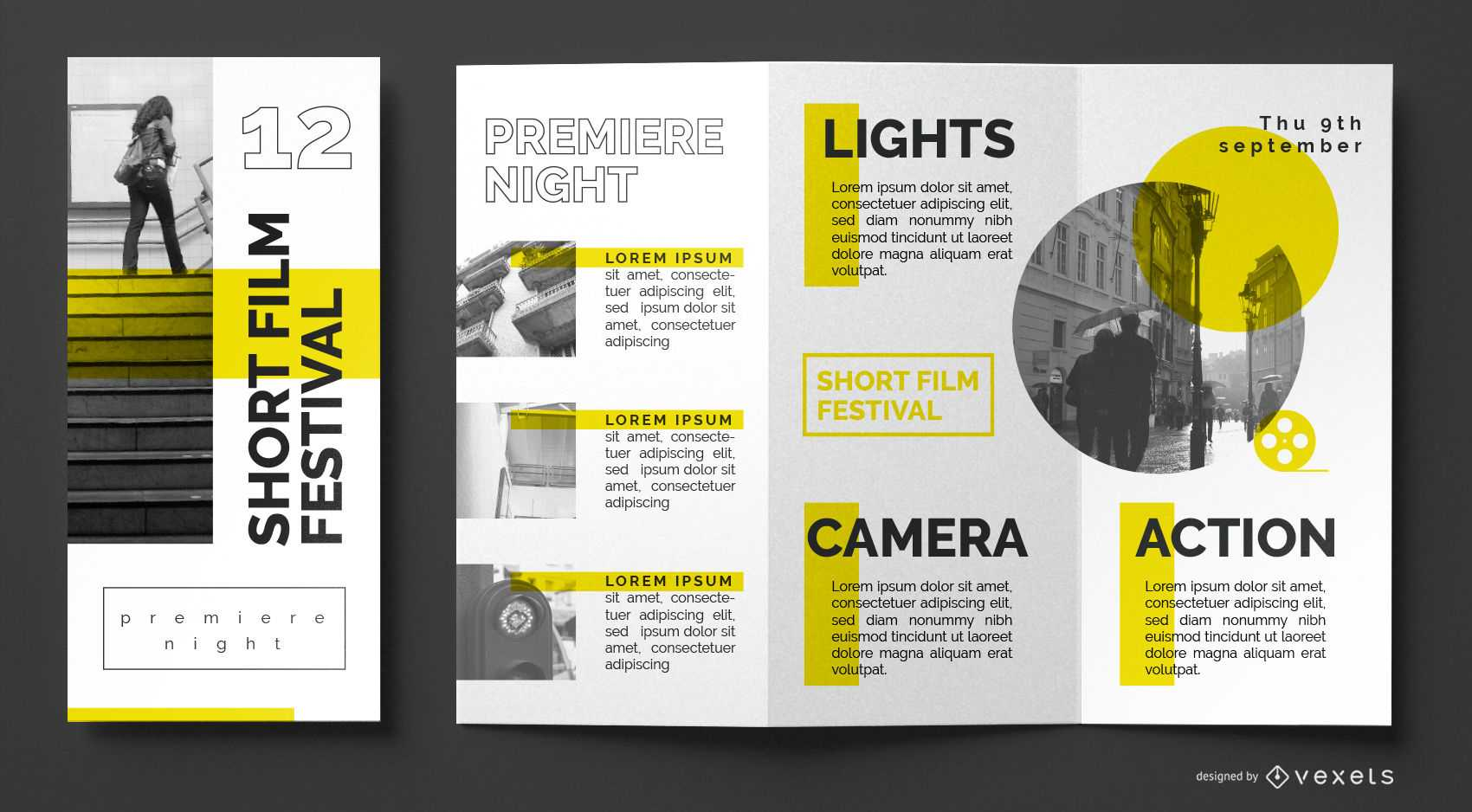 Film Festival Brochure Template - Vector Download Within Film Festival Brochure Template