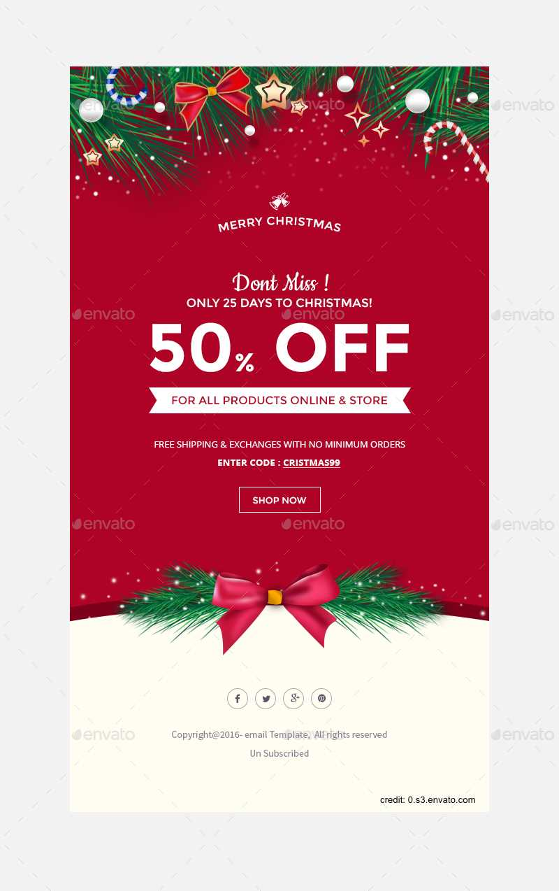 Finding The Right Holiday Greetings Email Template - Mailbird Throughout Holiday Card Email Template