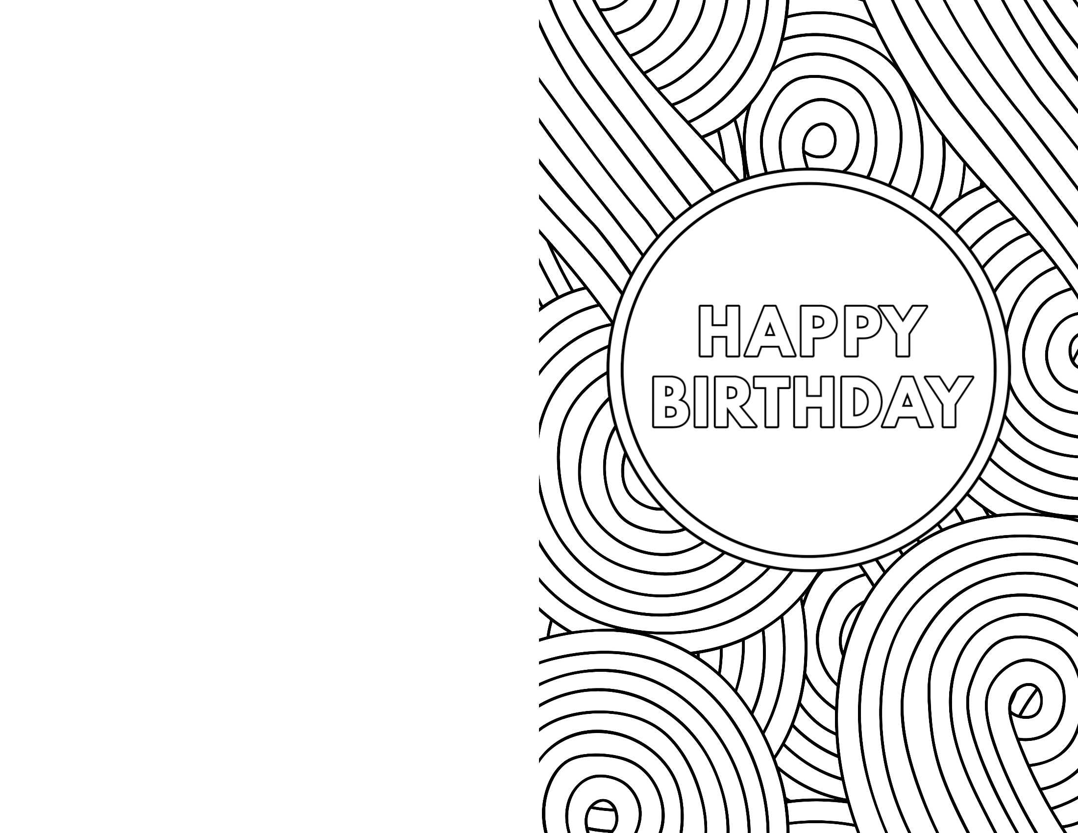 Foldable Printable Birthday Cards For Kids In Foldable Birthday Card Template