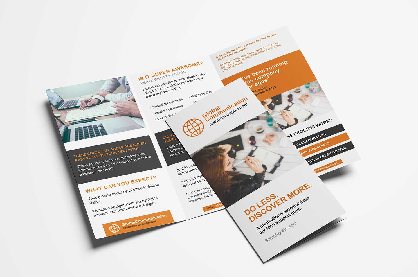 Folding Flyers Templates - Tunu.redmini.co In Single Page Brochure Templates Psd