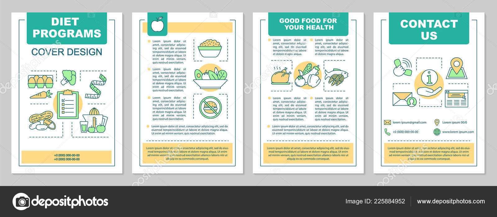 Food Magazine Layout Templates | Healthy Nutrition Brochure With Nutrition Brochure Template