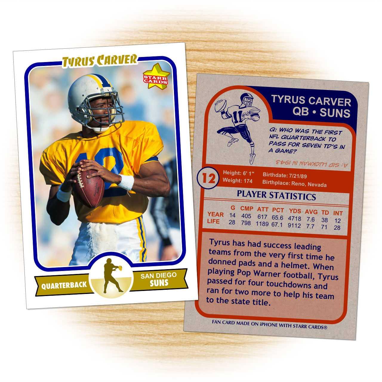Football Trading Card Template. Football Card Template From Intended For Soccer Trading Card Template