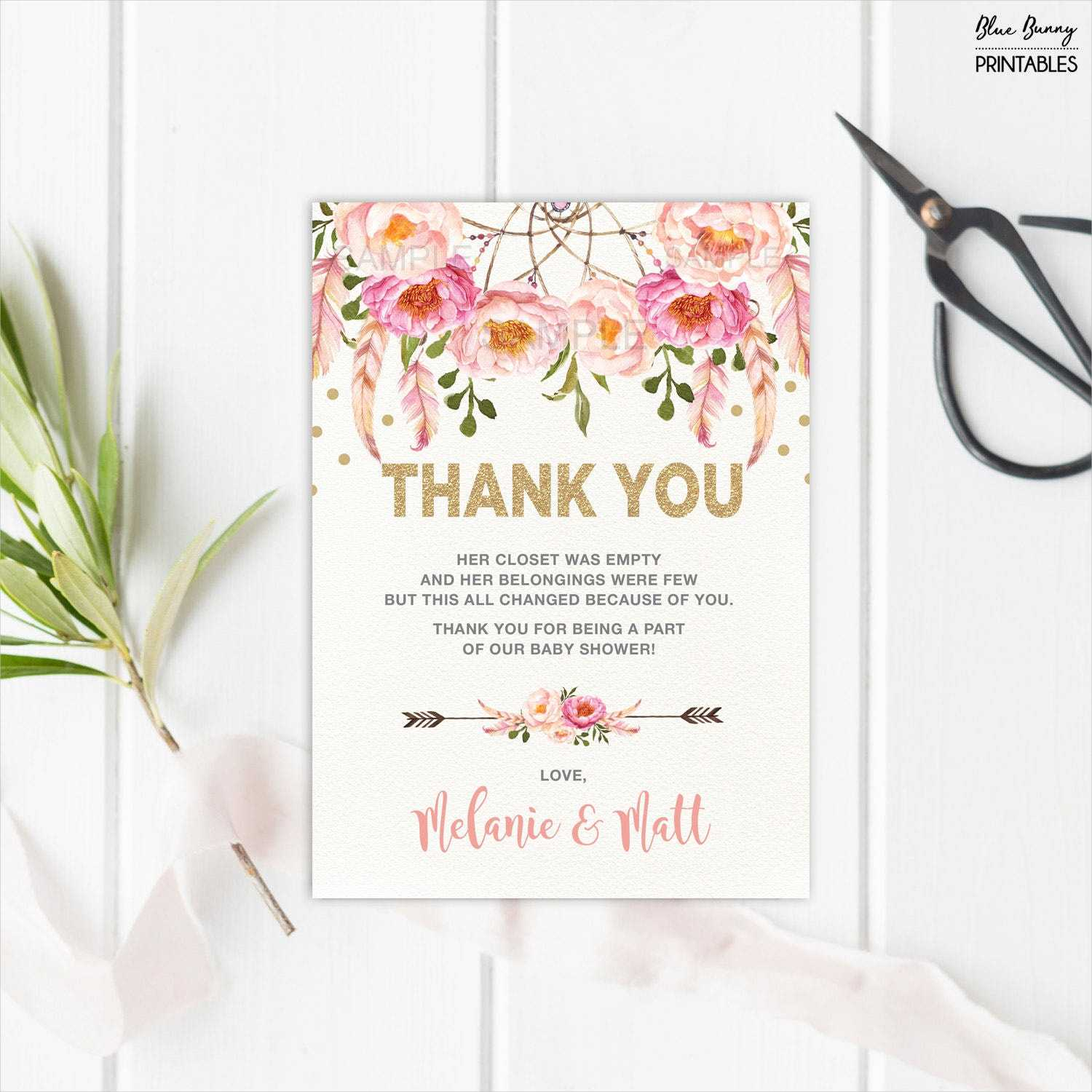 Free 14+ Baby Shower Thank You Cards In Psd | Ai | Eps Intended For Template For Baby Shower Thank You Cards