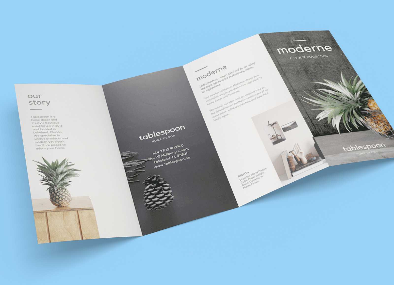Free 4 Panel Quad Fold Brochure Mockup Psd – Good Mockups Pertaining To 4 Panel Brochure Template